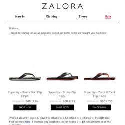 [Zalora] Are you still shopping for Sandals and Flip Flops?