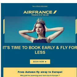 [AIRFRANCE] Great deals to Europe, 3 days only!