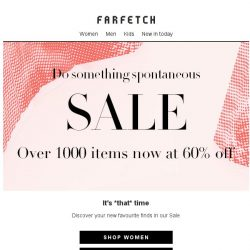 [Farfetch] Sale | Over 1000 items now at 60% off
