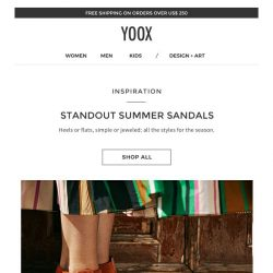 [Yoox] All the sandals for summer