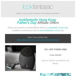 [The Hut] Lookfantastic.HK Father's Day Offers