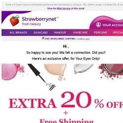 [StrawberryNet] Exclusive For Your Eyes Only! Extra 20% Off + Free Shipping Now!