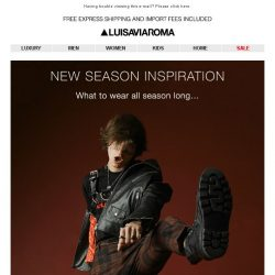 [LUISAVIAROMA] Your FW17 key pieces…