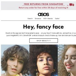 [ASOS] Cancel your beauty appointment
