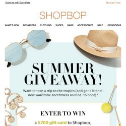 [Shopbop] Want to go to Bali? Read this!
