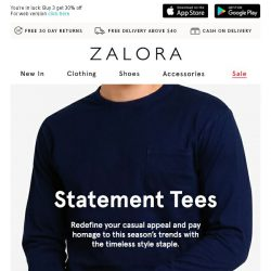 [Zalora] Staple Feature: T-shirts That You'll Dig