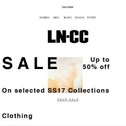 [LN-CC] SUMMER Sale: up to 50% off: Saint Laurent / Marni / Stella McCartney / Valentino / Fendi