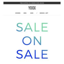 [Yoox] Sale on Sale: EXTRA 20% off a sale selection