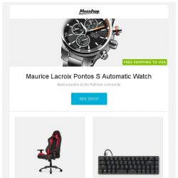 [Massdrop] Maurice Lacroix Pontos S Automatic Watch, AKRacing Nitro Series Gaming Chairs, Magicforce 49-Key Mechanical Keyboard and more...