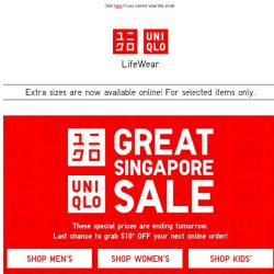 [UNIQLO Singapore] You heard right. Deals from $9.90!