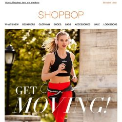 [Shopbop] Work it out in new activewear