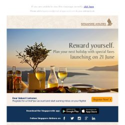 [Singapore Airlines] Be the first to access our limited fare deals – landing in 48 hours