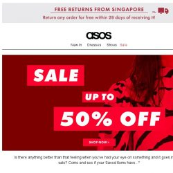 [ASOS] The up-to-50%-off sale is here...