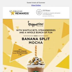 [Starbucks] Go bananas with Limited Edition Banana Split Mocha Frappuccino®