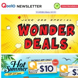 [Qoo10] Your Hot Summer Deals are here!