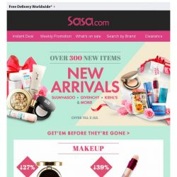 [SaSa ] 【NEW ARRIVALS】Sulwhasoo, Givenchy, Kiehl's & more!