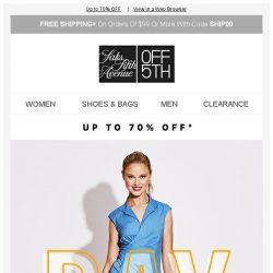 [Saks OFF 5th] Score summer STEALS for work & play!