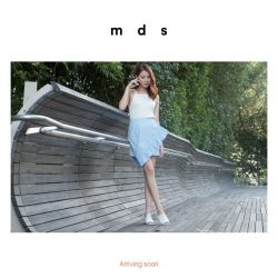 [MDS] Pre-orders Now Open! Featuring Asymmetric Smocked Ruffles Skirt in Blue Pinstripes