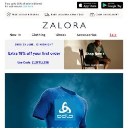[Zalora] 10% Off Odlo: Reach Your Fitness Goals With Premium Sportswear