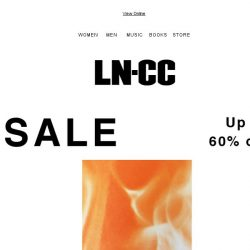 [LN-CC] FURTHER Reductions: up to 60% off SS17 SALE