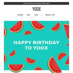 [Yoox] 🎊 Happy Birthday to YOOX! EXTRA 30% off a selection of non-sale items