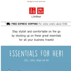 [UNIQLO Singapore] Here's the best for your travel essentials