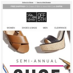 [Saks OFF 5th] Starting TODAY: SAVE on our most-loved SHOE brands!