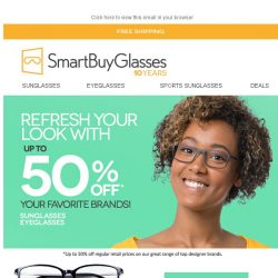 [SmartBuyGlasses] Refresh your look! ⛱️ Up to 50% off your favourite brands