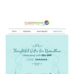 [Floweradvisor] Hurry! Raya with special discount. Even more on 🎉GSS (UP TO 50%)🎉