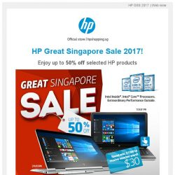 [HP Singapore]  GSS Sales Promotion Upto 50% for HP Products - Only in Official HP SG Online Store!