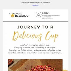[Starbucks] Journey to a delicious cup