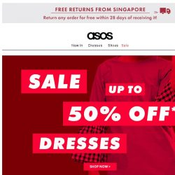 [ASOS] Up to 50% off dresses and jumpsuits