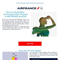 [AIRFRANCE] Join Flying Blue and receive 3,000 Bonus Miles!
