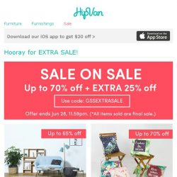 [HipVan] What could be better? Extra sale on sale items! 😍
