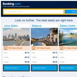 [Booking.com] A stay in Johor Bahru from S$ 14 – now that's a good price!