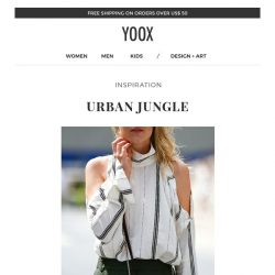 [Yoox] Urban Jungle: brave the heat with these summer looks
