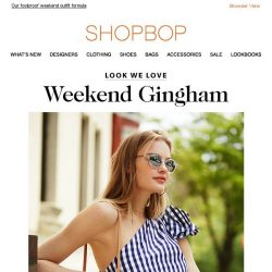 [Shopbop] Gingham + denim = your new weekend outfit