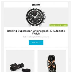 [Massdrop] Breitling Superocean Chronograph 42 Automatic Watch, BlackVue DR650S-2CH Dash Camera, Gigabyte Aorus GeForce GTX 1080 Ti 11G and more...