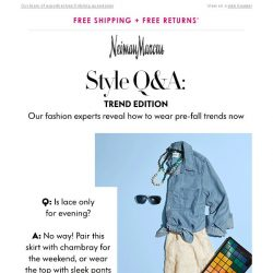 [Neiman Marcus] Style Q&A: How to wear pre-fall now