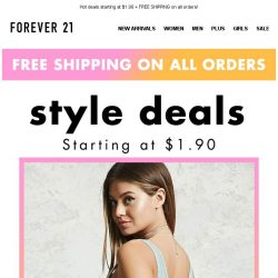 [FOREVER 21] We know you love a good DEAL...