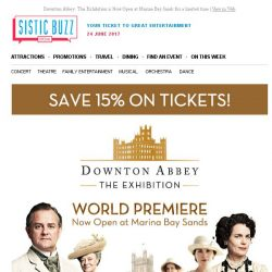 [SISTIC] Downton Abbey: The Exhibition is Now Open at Marina Bay Sands for a limited time
