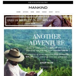 [Mankind] 20% off + Free Grooming Gift | Another Adventure