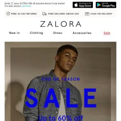 [Zalora] SALE: Up To 60% Off! What Are You Waiting For?
