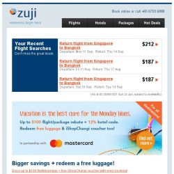 [Zuji] Short, sweet vacations: 3D2N escapes fr $175 only.