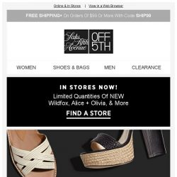 [Saks OFF 5th] Ladies: SAVE on our most-loved SHOE brands!