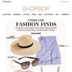 [Shopbop] Beach-ready styles at easygoing prices