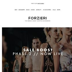 [Forzieri] SALE Boost // Phase 2 Now Live