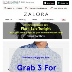 [Zalora] What A Steal: 1 For $24.90, 3 For $60!