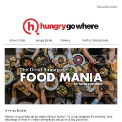 [HungryGoWhere] HungryGoWhere Exclusives: 1-for-1 Deals, 10% Off Total Bill, 50% Off 2nd Diner & more!