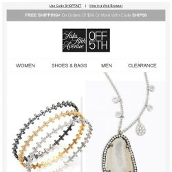 [Saks OFF 5th] TODAY ONLY: EXTRA 40% OFF must-have jewelry!
